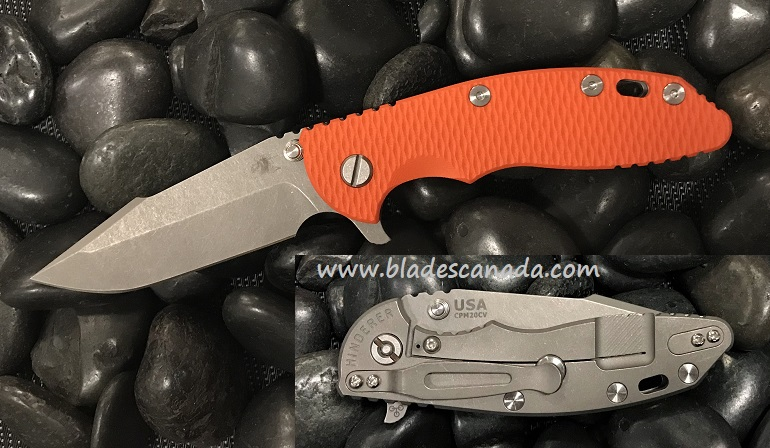 Hinderer XM-18 3.5 Gen 6 Harpoon Spanto WF - Orange G10