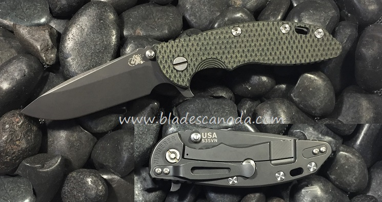 Hinderer XM-18 3.5 Spearpoint Battle Black - Green Black G10