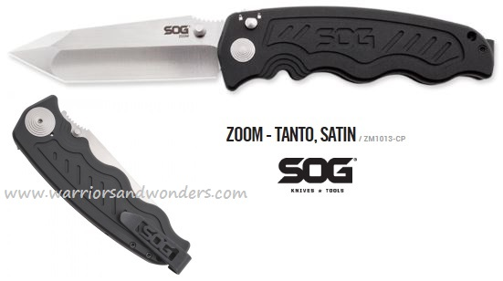 SOG ZM1013 Zoom Tanto Satin Asisted Opening - Click Image to Close