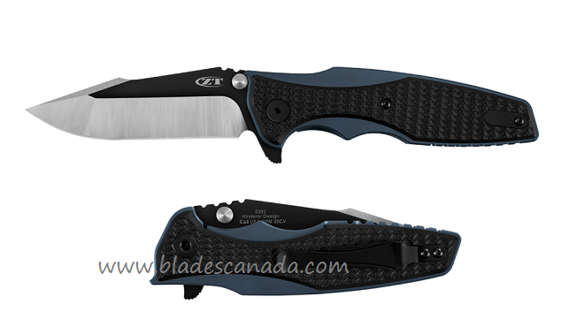 Zero Tolerance 0393 Hinderer 20CV Blue Titanium & Black G10