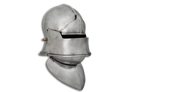 GDFB European Sallet w/ Visor,Browplate -14G Large (Online Only)