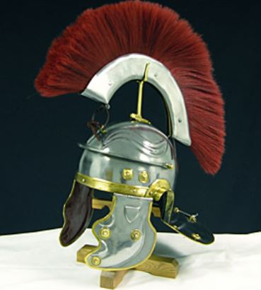 GDFB Gallic Helmet with Red Crest 18G Large AB1747 (Online Only)