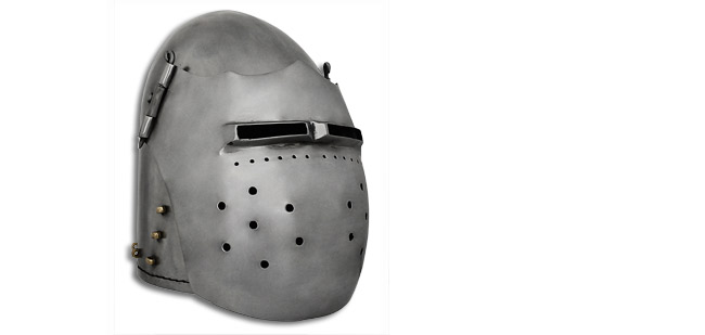GDFB Great Fighting Bascinet Helmet - 14Ga Large (Online Only)