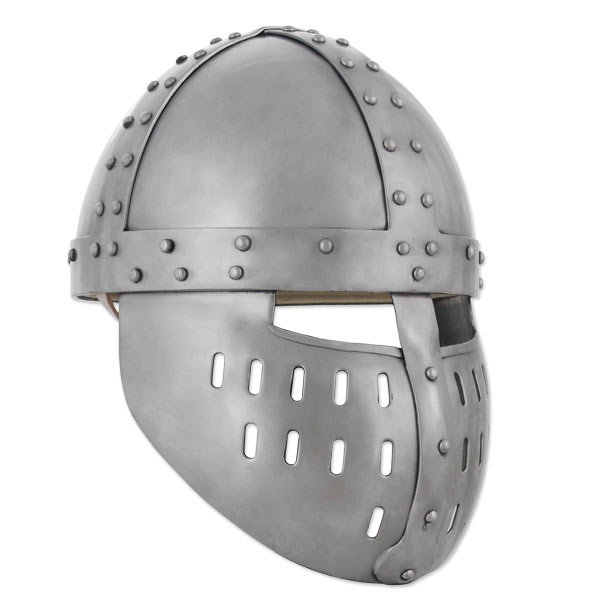 GDFB Crusader Spangenhelm w/ Face Guard 14G AB3069
