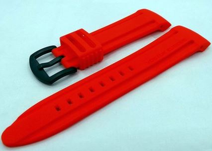 Vostok Europe Silicone Strap Red/Black Buckle 24mm