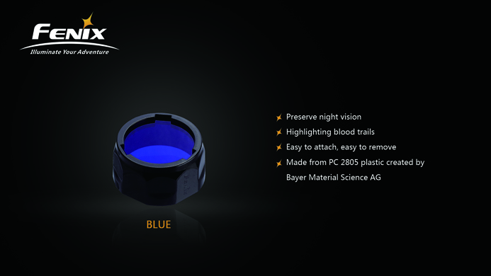 Fenix AOF-S+ Blue Filter - PD35/PD12/UC40