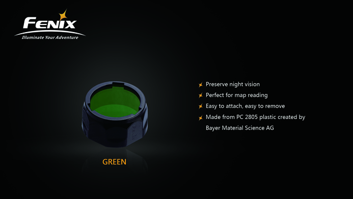 Fenix AOF-S+ Green Filter - PD35/PD12/UC40
