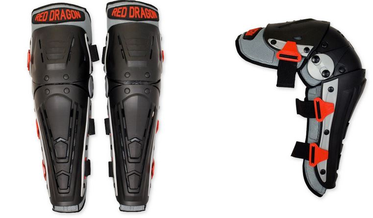 Red Dragon Armoury Knee and Shin Guards - Pair