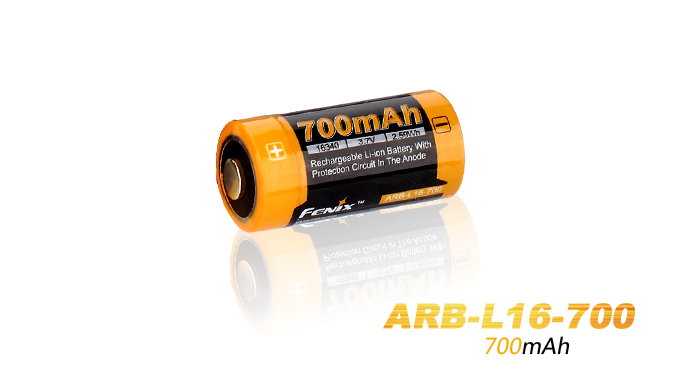 Fenix ARB-L16 Rechargeable 16340 Battery - 700mAh