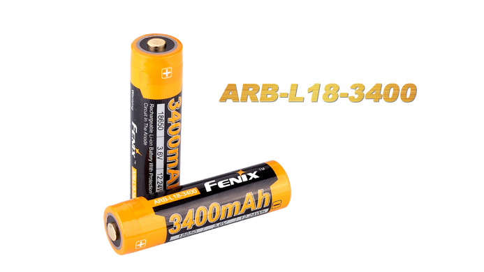 Fenix ARB-L18 Rechargeable 18650 Battery - 3400mAh