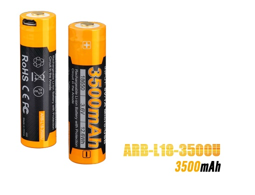Fenix ARB-L18 USB Rechargeable 18650 Battery - 3500mAh