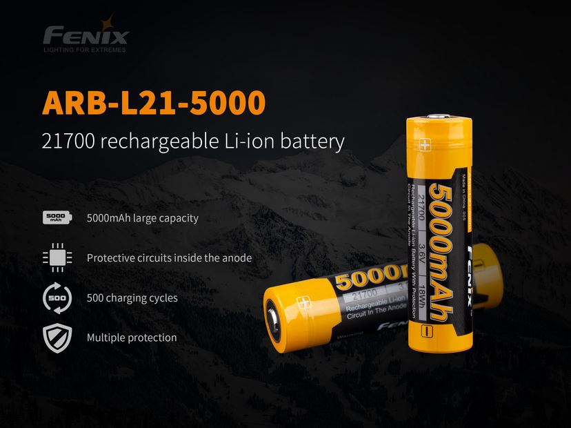 Fenix ARB-L21 Rechargeable 21700 Battery - 5000mAh
