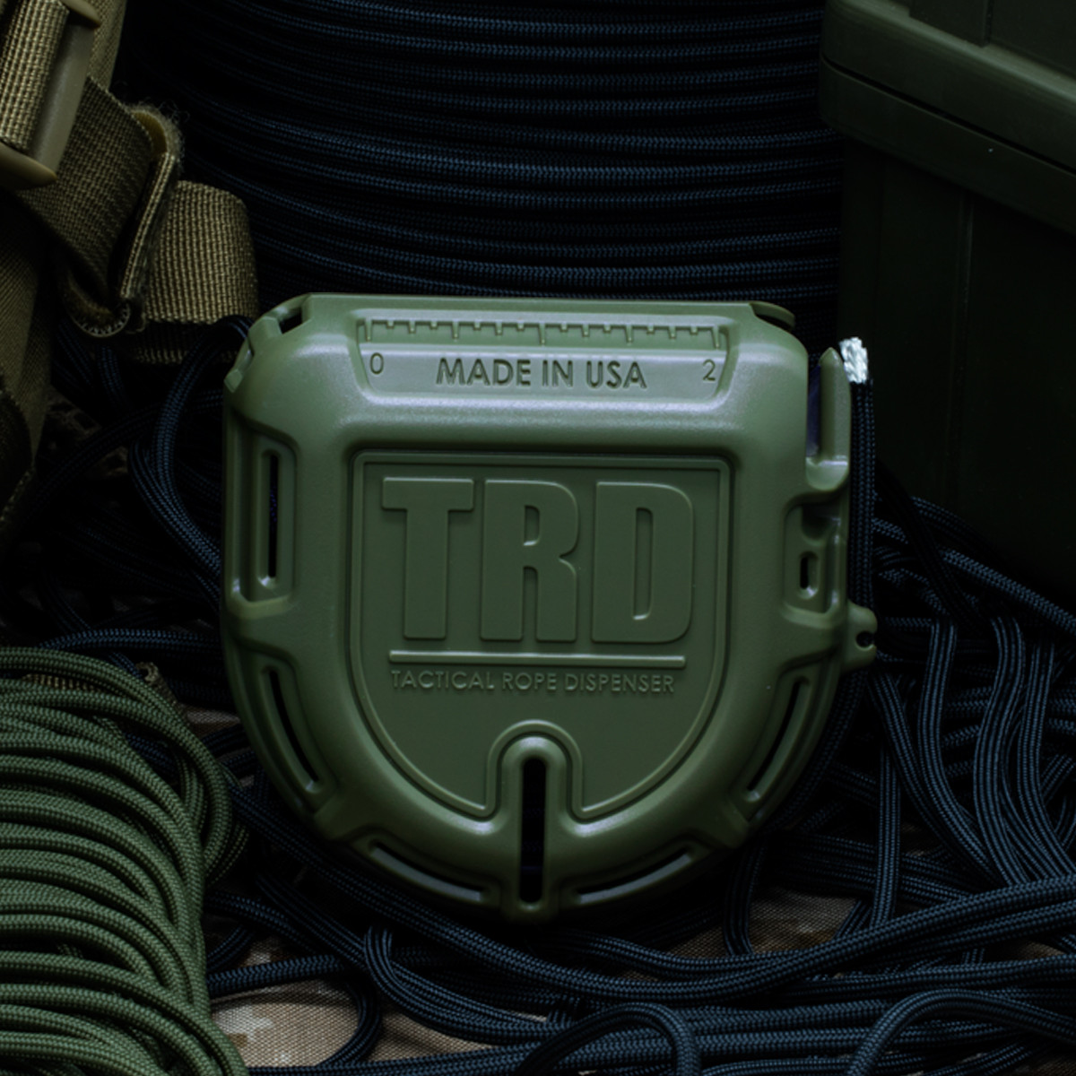 Atood Rope TRD Tactical Rope Dispenser - OD Green