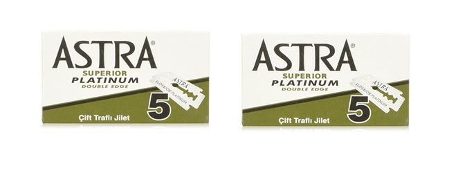 Astra Platinum Replacement Safety Razor Blades - 10 Pack