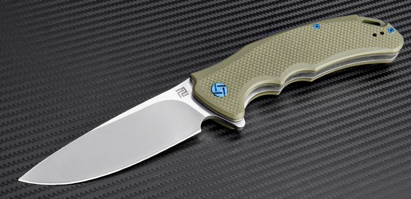 Artisan Tradition, D2 Stonewash, Green G10, 1702PGN