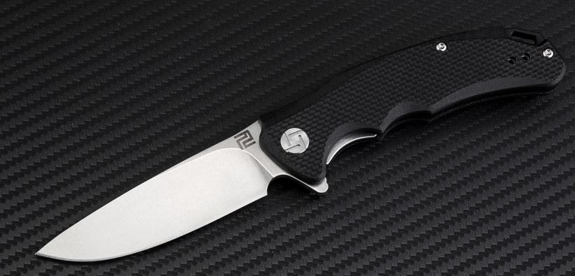 Artisan Cutlery 1702PSBKF Tradition Small Flat D2 - Black G-10