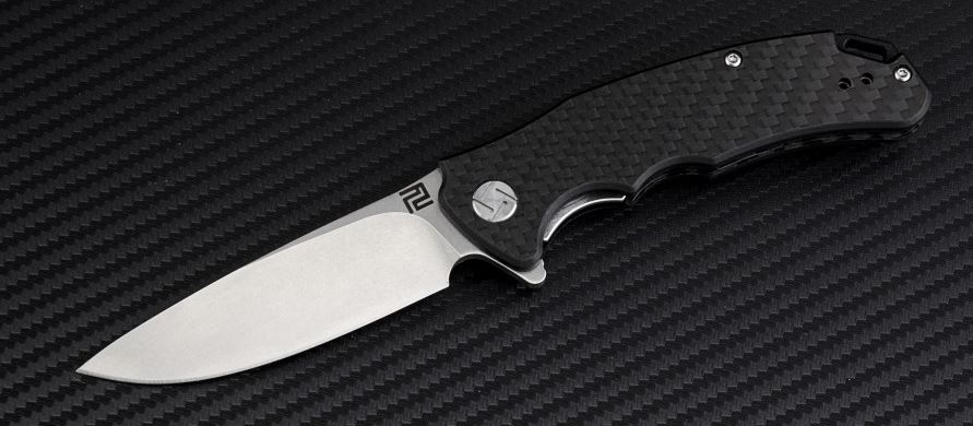 Artisan Cutlery 1702PSCF Tradition Small Flat D2 - Carbon Fiber