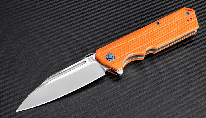 Artisan Cutlery 1703POE Littoral D2 -Orange G10