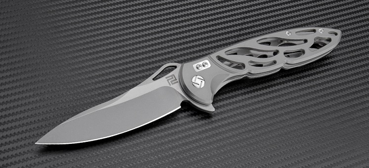 Artisan Cutlery 1801PGY Hoverwing D2 - Grey