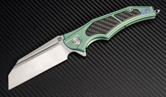 Artisan Cutlery 1813GGNS Apache Nomad S35VN Framelock- Green