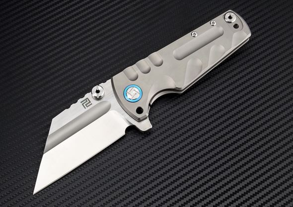 Artisan Cutlery 1820GSGY Proponent Small S35VN - Grey Ti