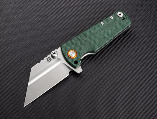Artisan Cutlery 1820PGNF Proponent D2 -Green G-10 Flat