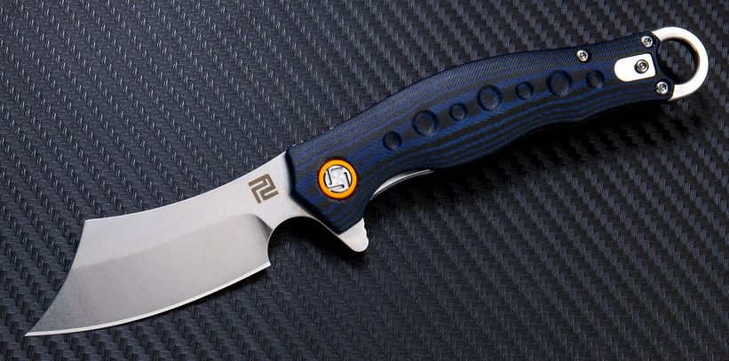 Artisan Cutlery 1828PBUC Corsair D2 Blue & Black G-10
