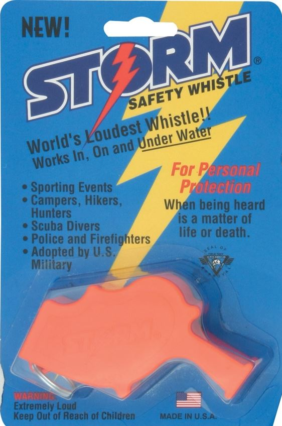 All Weather Safety Whistle Storm - Orange