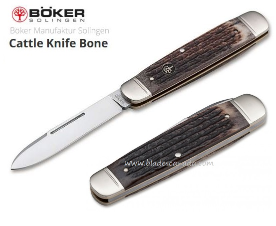 Boker Germany Cattle Knife, Bone Handle, N690, 112910
