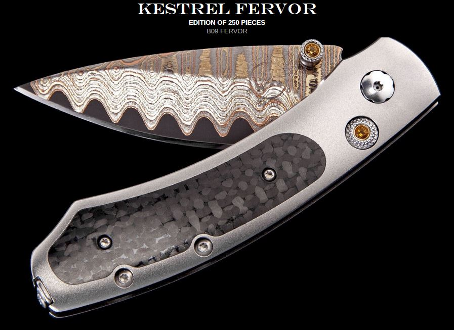 William Henry B09 Kestrel Fervor Copper Wave Damascus