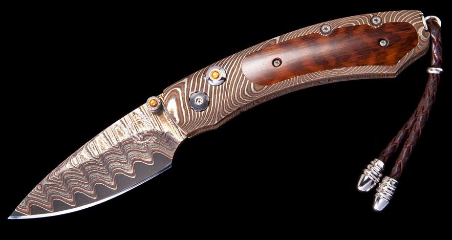 William Henry B09 Kestrel Sidewinder Damascus, Snakewood (Online