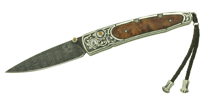 William Henry B10 Lancet Glenrock Damascus (Online Only)