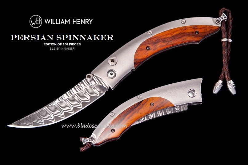 William Henry B11 Persian Spinnaker ZDP189 Damascus Cocobolo