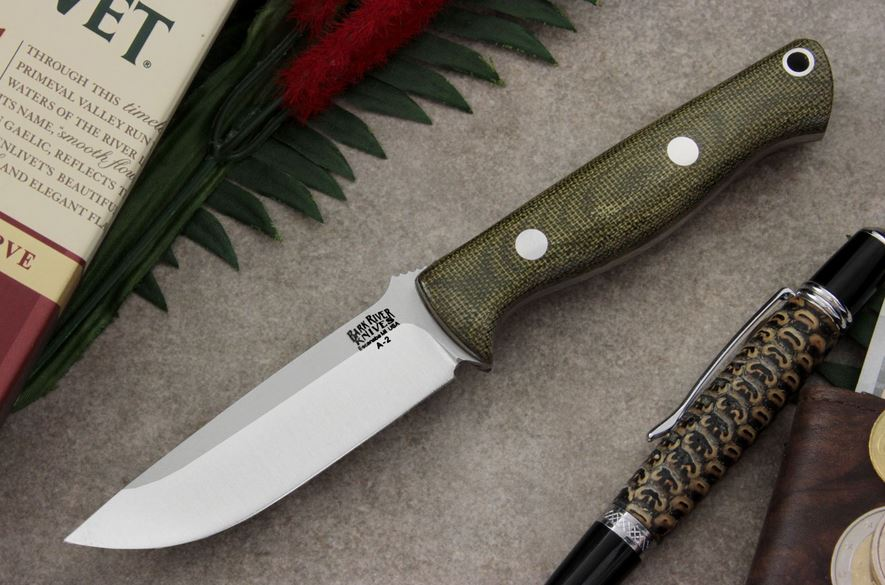 Bark River 007MGC Bravo EDC - Green Canvas Micarta
