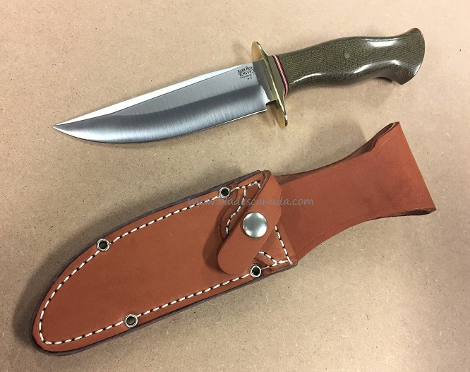 Bark River 9113MGC Vest Pocket Bowie A - Green Micarta