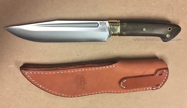 Bark River Vidarr 10114MGC Green Canvas Micarta, Leather Sheath