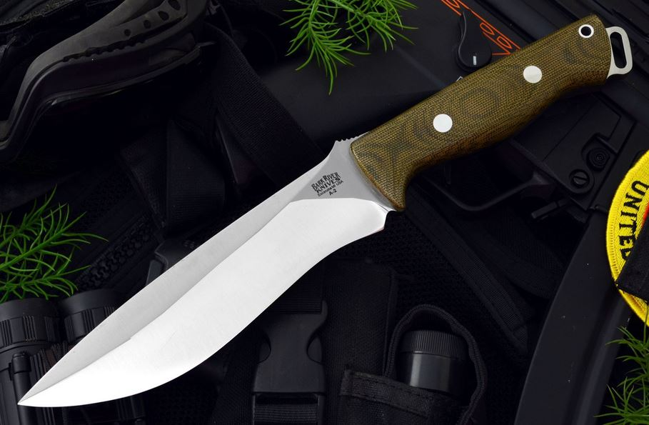 Bark River 118MGC Bravo Strike Force - Green Micarta