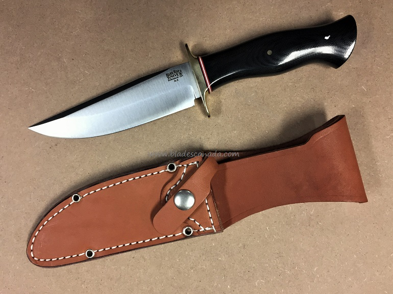Bark River 9113MBC Vest Pocket Bowie A - Black Micarta
