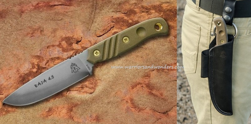 TOPS Baja 4.5 with Leather Sheath