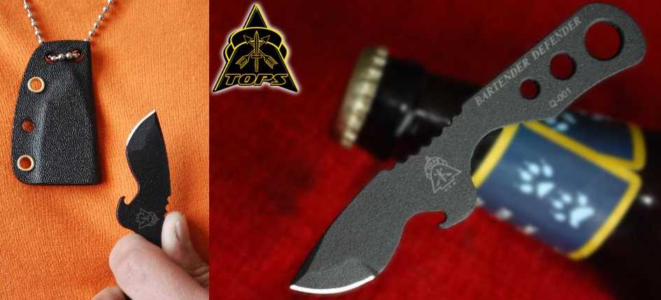 TOPS BAR01 Bartender Defender w/Kydex Sheath