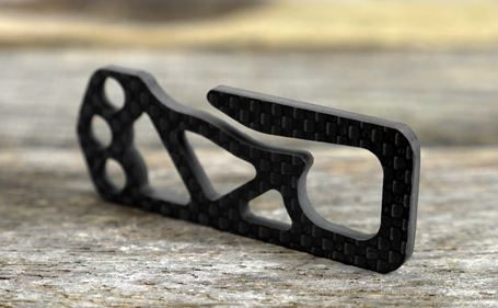 Bastion Ultralight Carboneer - Minimal Carbon Fiber Key Clip