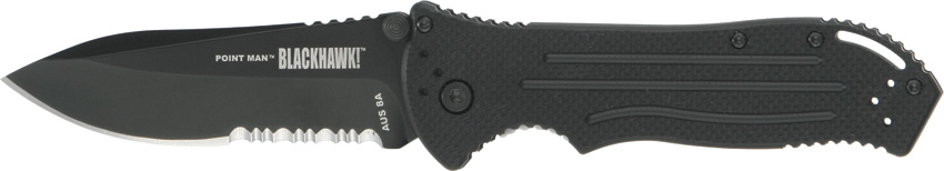 Blackhawk 15PM11BK Point Man Partially Serrated