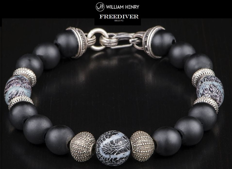 William Henry BB10FC Freediver Fossil Coral Bracelet