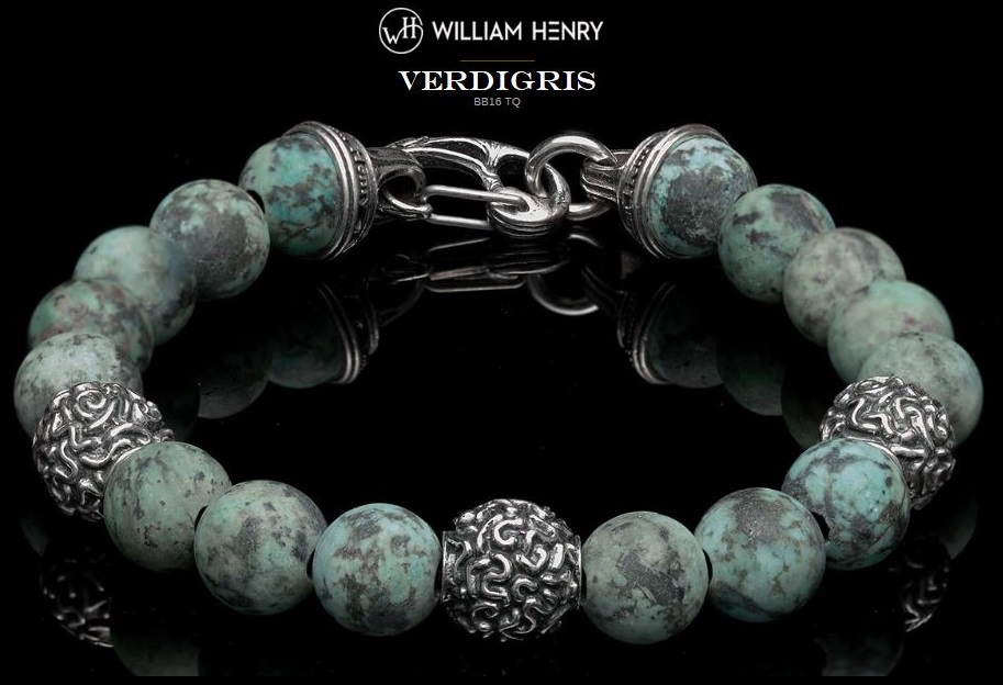 William Henry BB16TQ Verdigris Bracelet