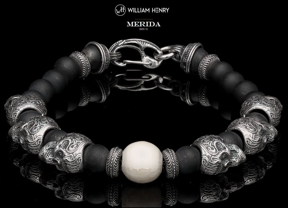 William Henry BB5W Merida Walrus Tusk/Sterling Silver Bracelet