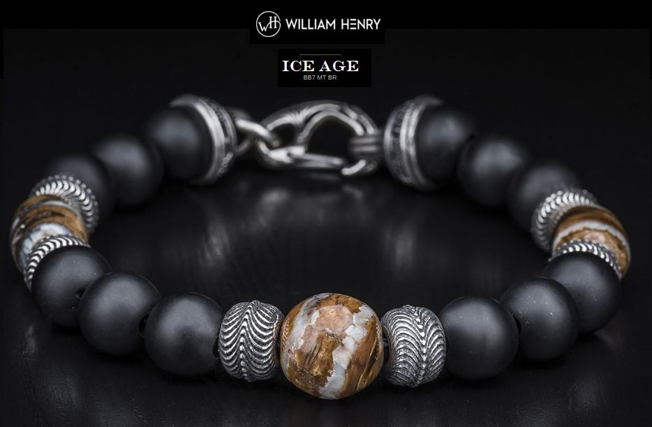 William Henry BB7MTBR Ice Age Mammoth Tooth Bracelet