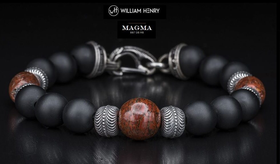 William Henry BB7DBRB Magma Dinosaur Bone Bracelet