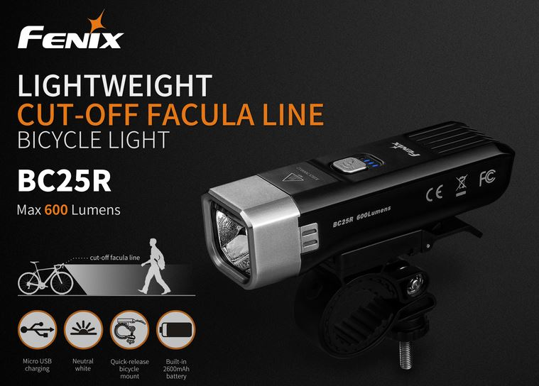 Fenix BC25R Bike Light - 600 Lumens