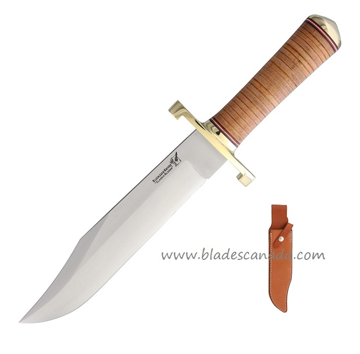 Blackjack 129SLT Classic Model 129 Bowie - Stacked Leather