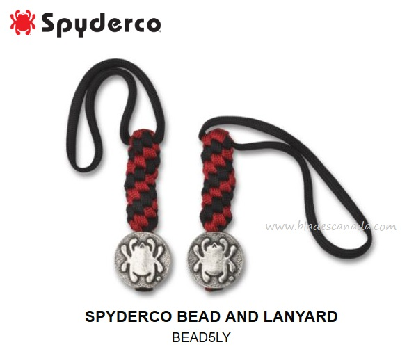 Spyderco Bead & Lanyard, BEAD5LY (Online Only)